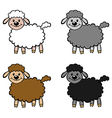 lambs color vector image