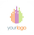line round color technology logo vector image vector image