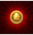 Litecoin on red background vector image vector image