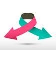 logo double arrow paper symbol vector image vector image