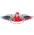 macaw bird wing vector image vector image