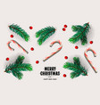 merry christmas and happy new year design with vector image vector image