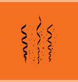 party serpentine icon vector image