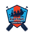 rafting logo with text space for your slogan vector image