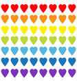 rainbow heart set gay flag color seamless pattern vector image
