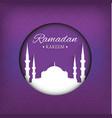 ramadan kareem purple background vector image