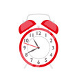 red alarm clock flat retro vector image