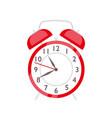 red alarm clock flat retro vector image