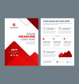 red brochure annual report flyer design template vector image vector image