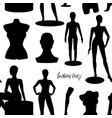 retail window display black realistic fashion body vector image