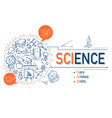 science icons collection design vector image vector image