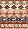 Seamless colorful aztec geometric tribal pattern vector image