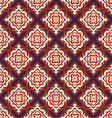 seamless ornament squares on a diagonal vector image vector image