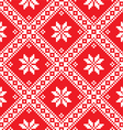 Seamless Ukrainian Slavic folk art red embroidery vector image vector image