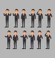 set of businessman cartoon vector image vector image