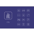 Set of city simple icons vector image vector image