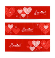 Set of love background with abstract hearts vector image vector image