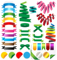 set of ribbons Isolated on white background vector image vector image