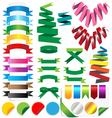 set ribbons isolated on white background vector image