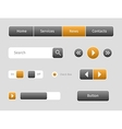 set web buttons with outlines vector image
