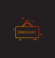 shop board icon design vector image