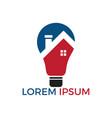 smart house logo design vector image vector image