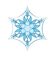 snowflake blue sign silhouette design snowflake vector image vector image