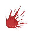 splattered blood stains on a vector image vector image