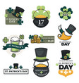 st patricks day isolated icons irish holiday vector image