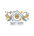sweet home logo design eco friendly house concept vector image vector image