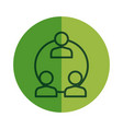 teamwork users avatars icon vector image