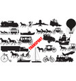 transportation all silh vector image