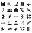 veterinary surgeon icons set simple style vector image vector image