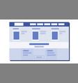 website flat design ux sketch template vector image