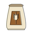 wheat flour pastry related icon image vector image vector image