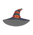 witchs hat with red straps and gold plaques vector image vector image