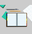 notebooke pen and pencil vector image
