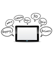 Tablet computer with function information vector image