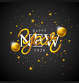 2020 happy new year with 3d vector image