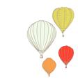 air balloons vector image vector image