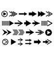 arrow arrows black set sign symbol cursor vector image vector image