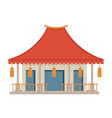 asian architecture chinese or japanese building vector image vector image