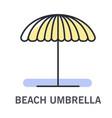 beach umbrella icon for sunshade at beach or pool vector image vector image