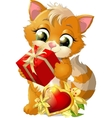 beautiful kitten vector image vector image