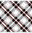 black gingham tablecloth seamless diagonal pattern vector image