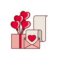 box with list of gifts isoalted icon vector image vector image