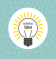 Business idea design with bulb and dollar icons fl vector image