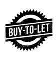 buy-to-let rubber stamp vector image vector image