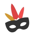 Carnival mask flat icon vector image