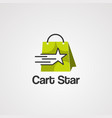cart star logo icon element and template vector image